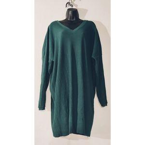 NwT ASOS navy Green Sweater Dress V-neck
